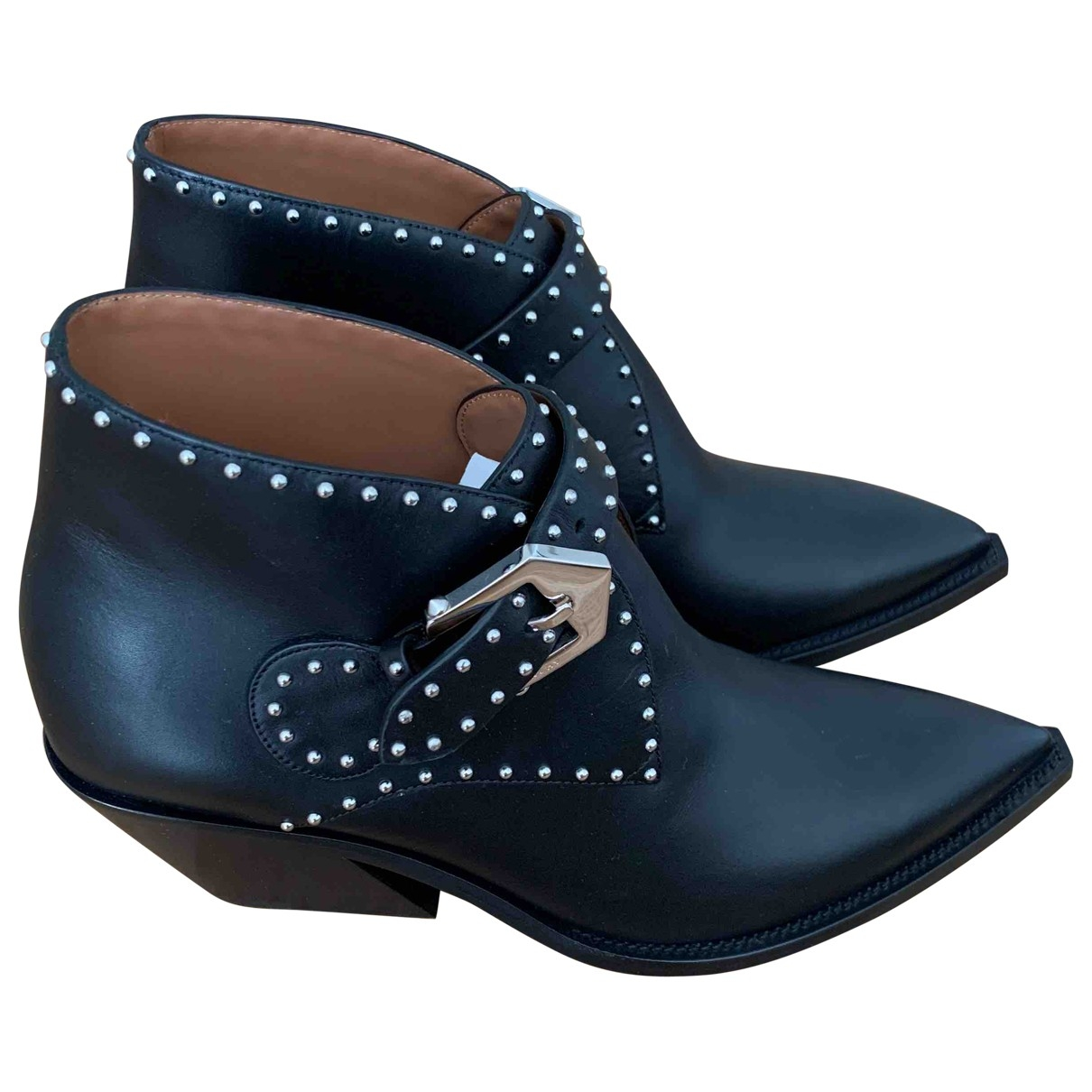 Givenchy \N Black Leather Ankle boots for Women 37 EU