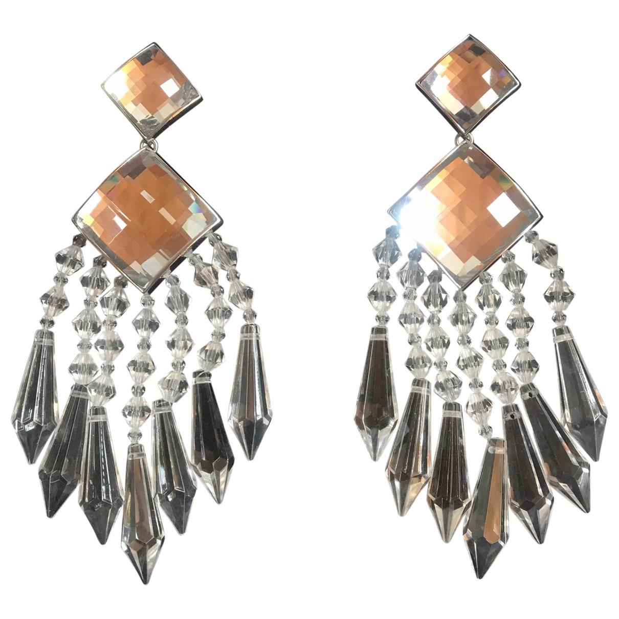 Balmain For H&m - Boucles doreilles   pour femme en metal - argente