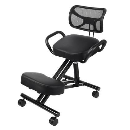Adjustable Ergonomic Kneeling Chair, Black - Moustache®