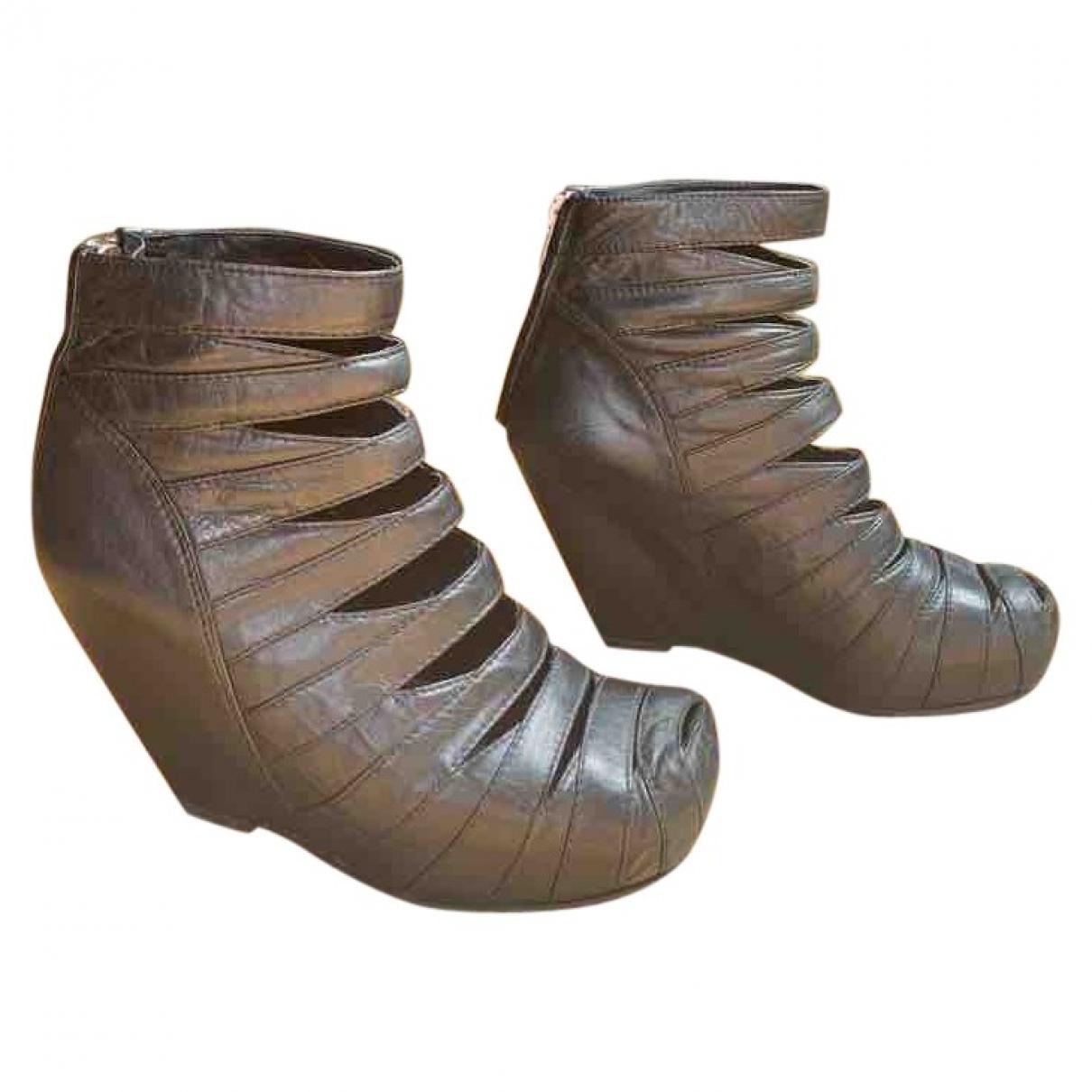 Botas de Cuero Rick Owens