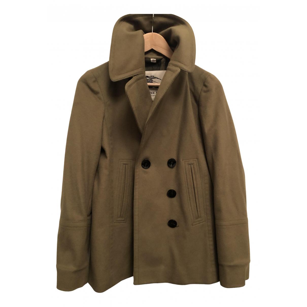 Burberry - Manteau   pour femme en laine - kaki