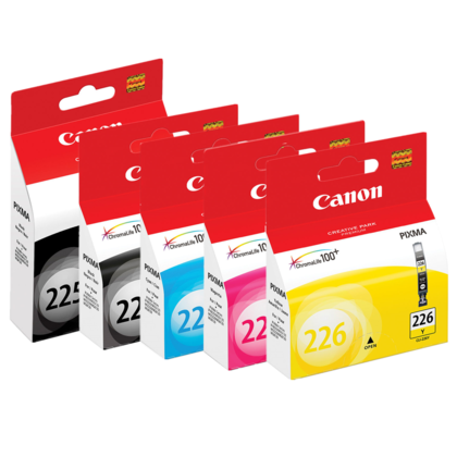 Canon PIXMA MG5350 Original Ink Cartridges PGBK/BK/C/M/Y Combo, 5 Pack