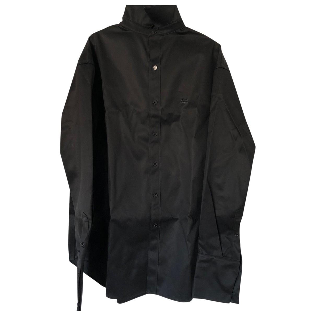Balenciaga - Blouson   pour femme en coton - noir