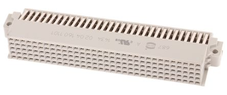 HARTING , Har-Bus 64 160 Way 2.54mm Pitch, 5 Row, Right Angle DIN 41612 Connector, Socket
