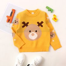 Toddler Girls Cartoon Graphic Sweater