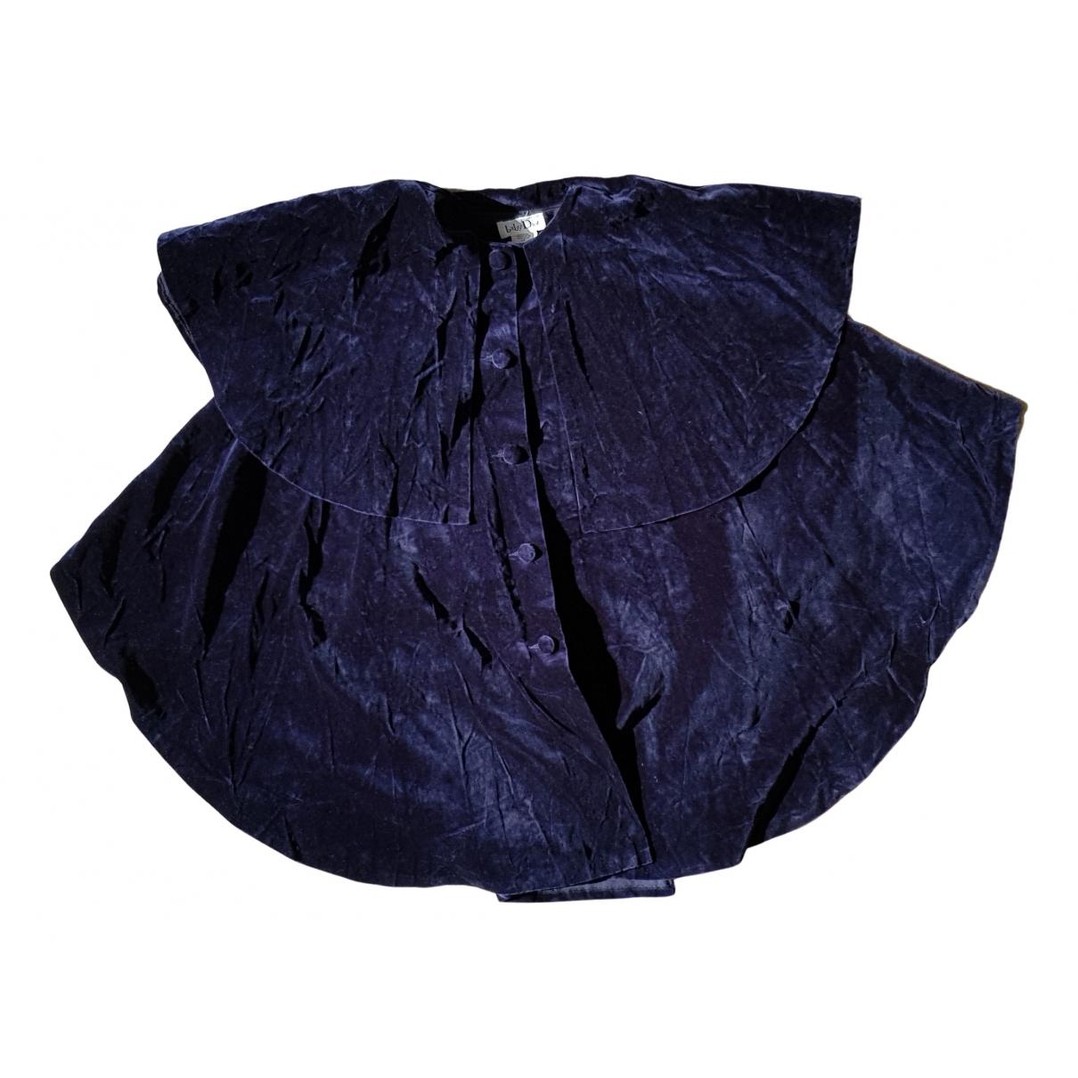 Baby Dior \N Jacke, Maentel in  Blau Samt