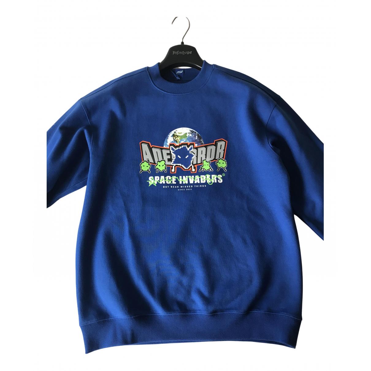 Ader Error \N Pullover.Westen.Sweatshirts  in  Blau Baumwolle