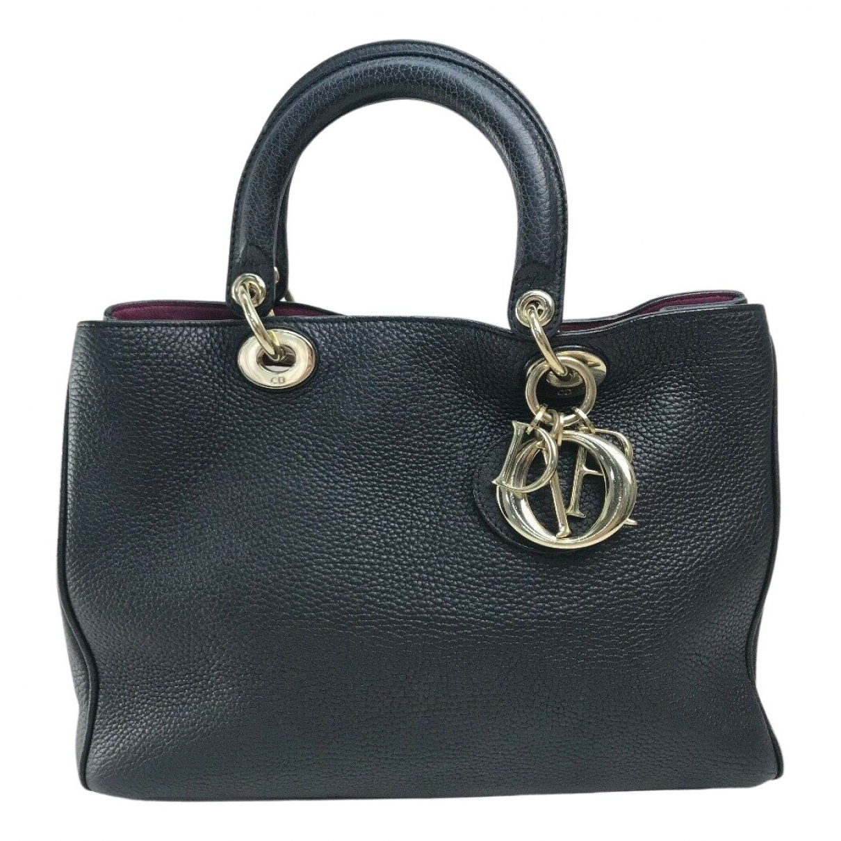 Dior Diorissimo Black Leather handbag for Women N