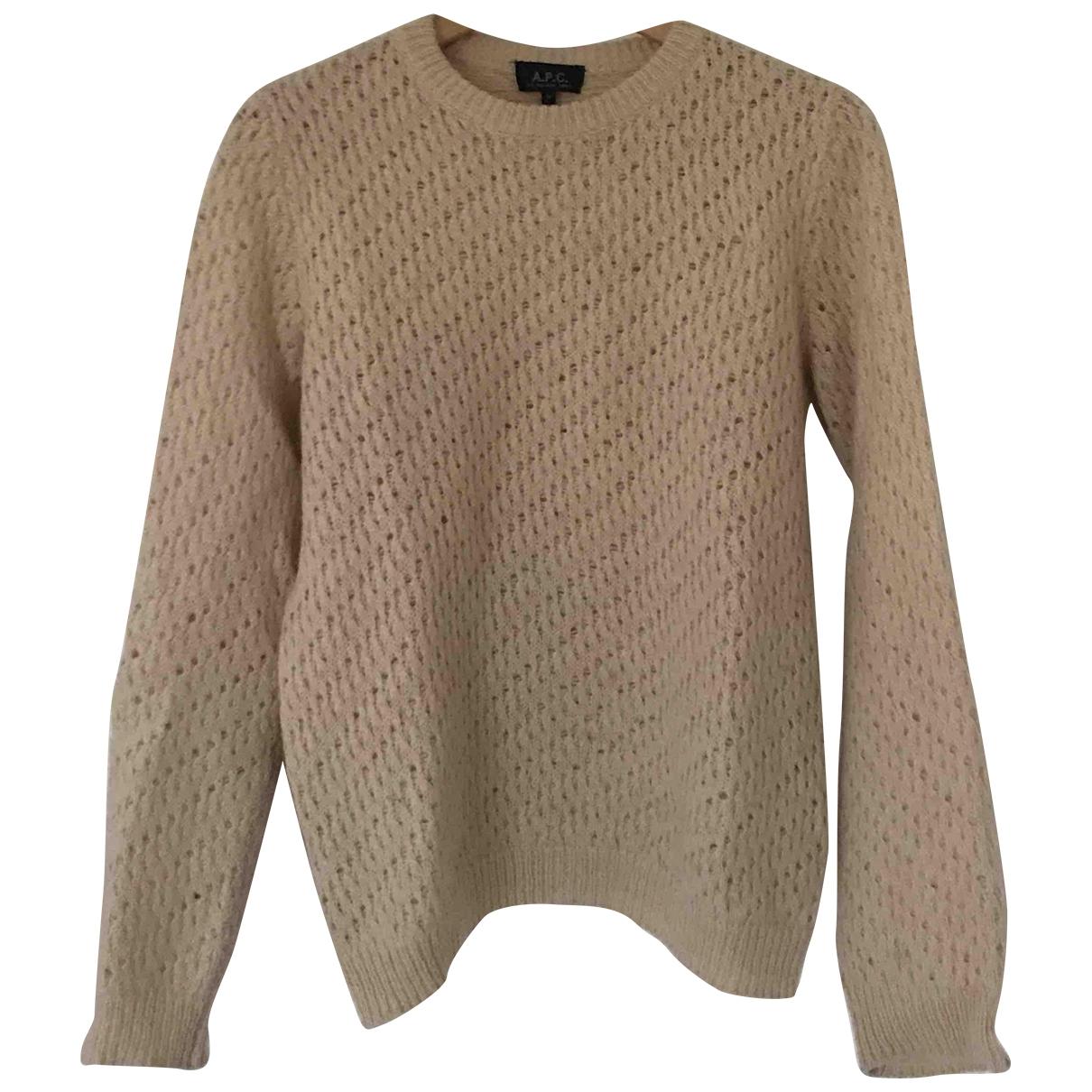 Apc \N Pullover.Westen.Sweatshirts  in  Ecru Synthetik