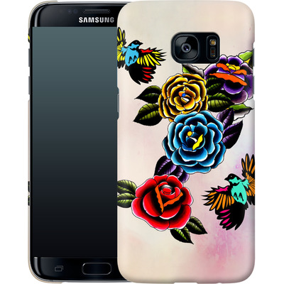 Samsung Galaxy S7 Edge Smartphone Huelle - Tattoo Roses von Mark Ashkenazi