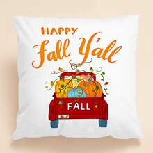 Slogan Graphic Cushion Cover Without Filler