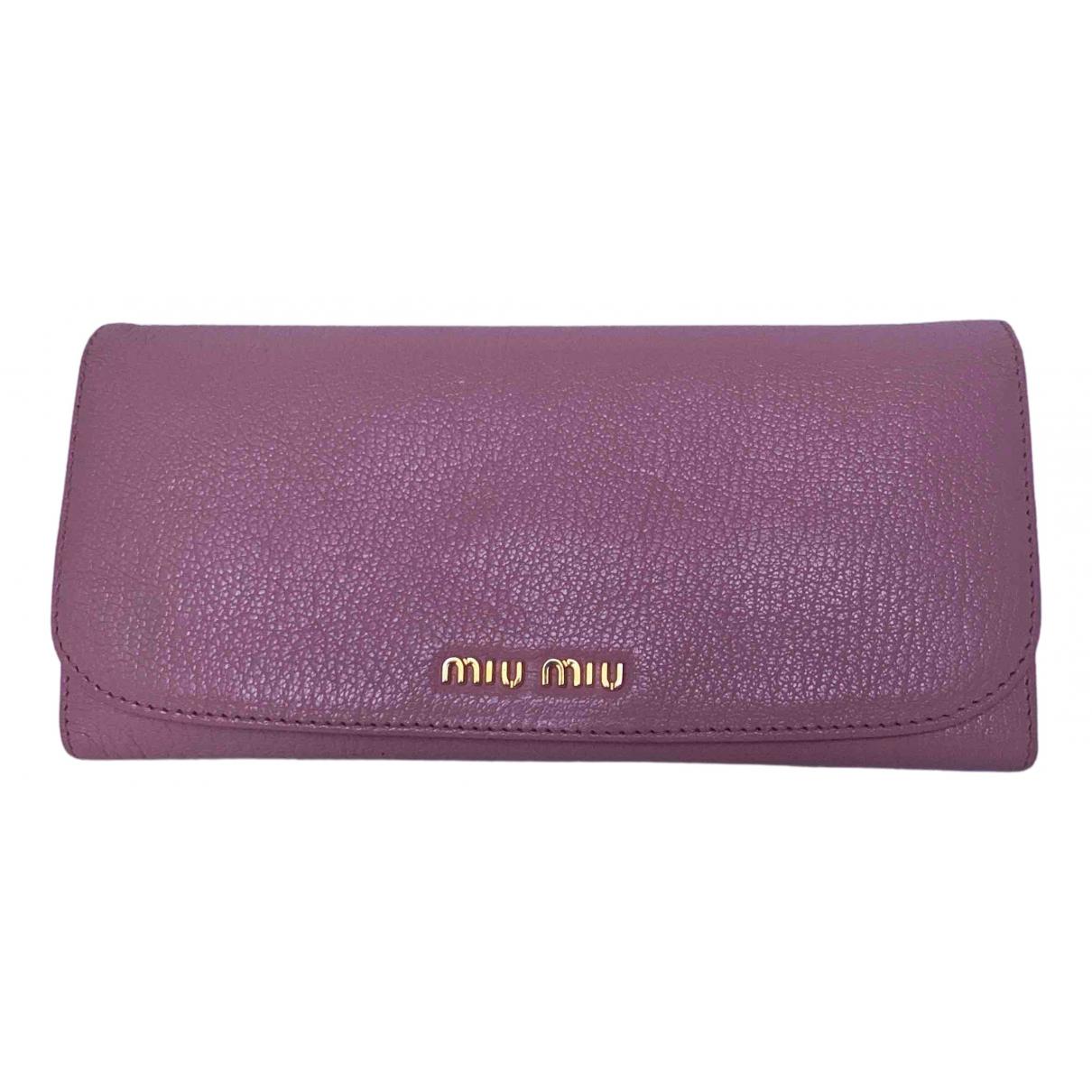 Miu Miu N Pink Leather Purses, wallet & cases for Women N
