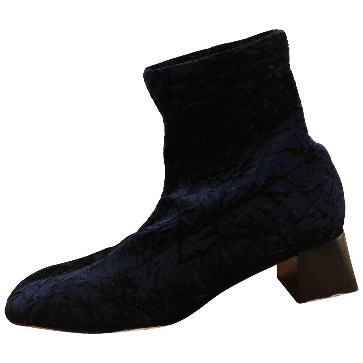 Bimba Y Lola - Boots   pour femme en velours - bleu