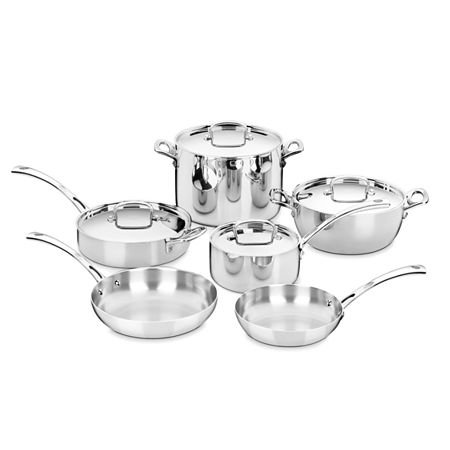 Cuisinart French Classic 10-pc. Stainless Steel Cookware Set, One Size , Silver