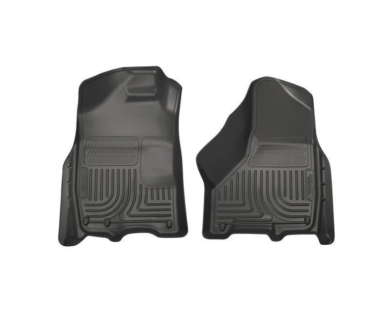 Husky Floor Liners Front 09-15 Dodge Ram WeatherBeater-Black