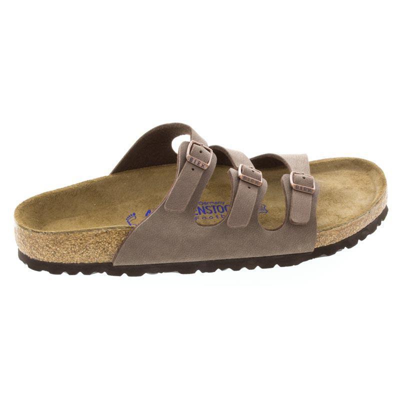 Birkenstock Florida Mocha Birkibuc Soft Footbed 37 R