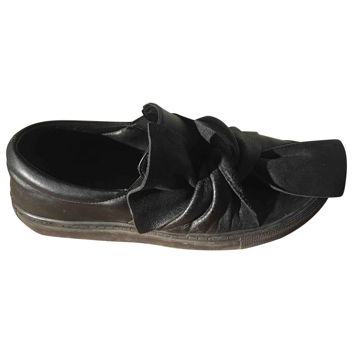 - Baskets   pour femme en caoutchouc - noir