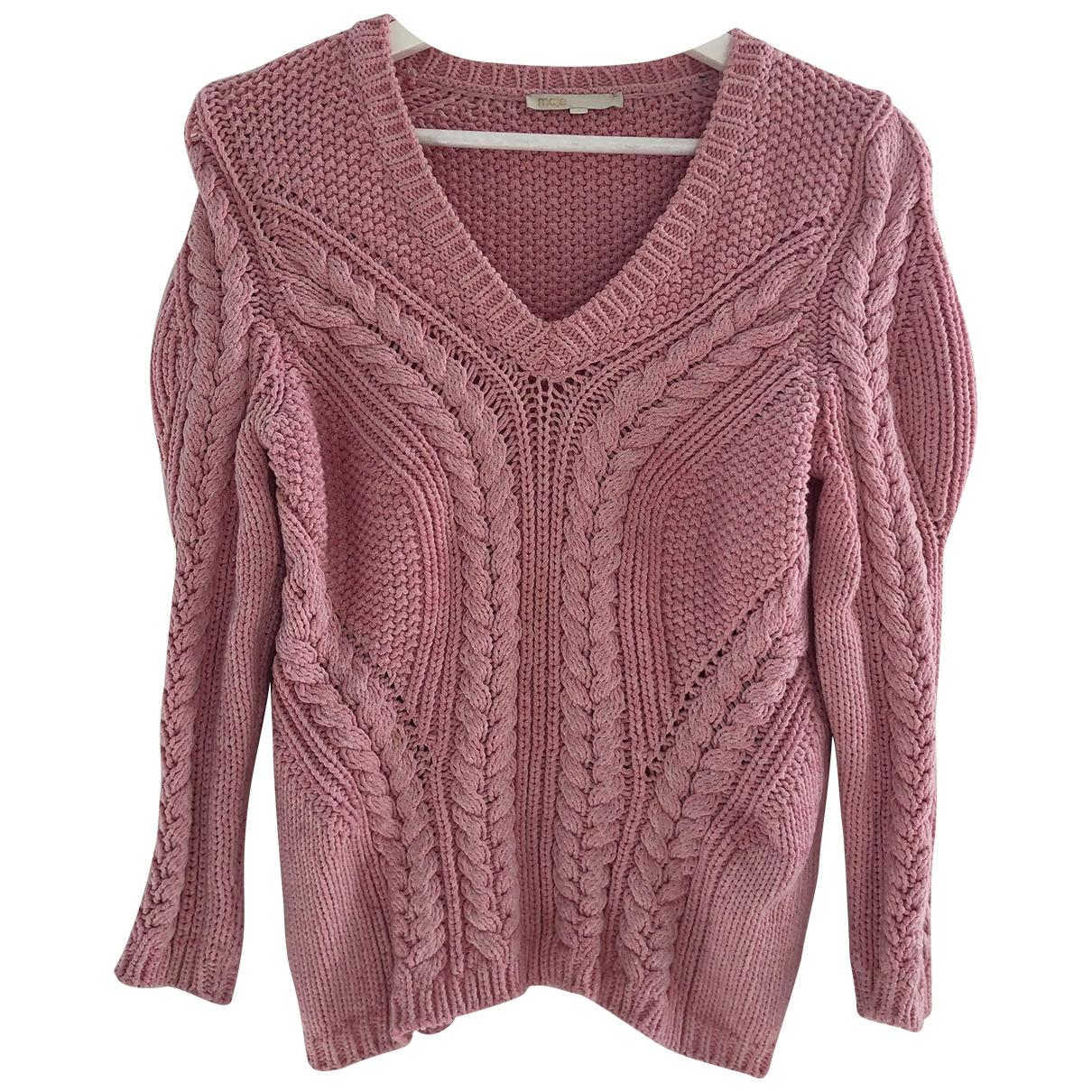 Maje \N Pink Cotton Knitwear for Women S International