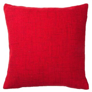Vallila Cushion  18 in. x 18 in. Throw Pillow (Red)
