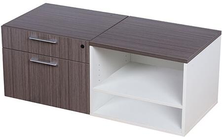 S501 Side Cabinet 48 X 20 2 Boxes   In Driftwood And