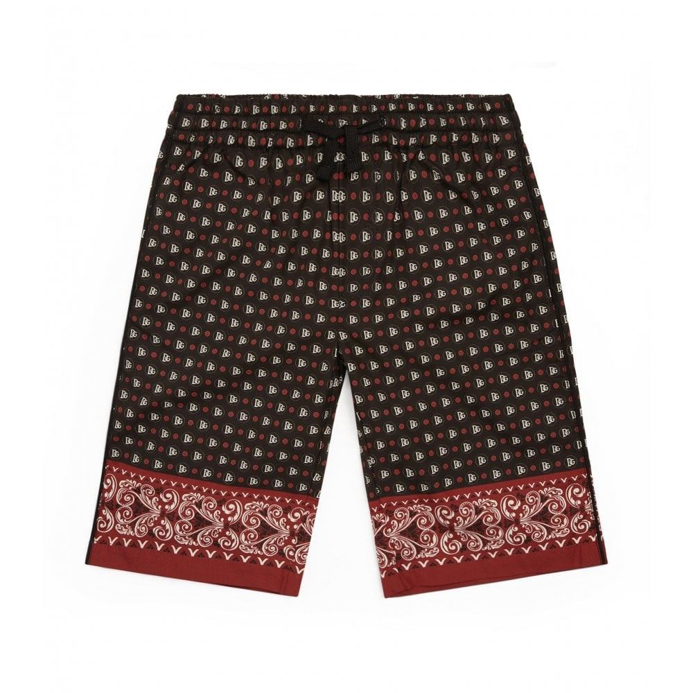Dolce & Gabbana D&G Logo Swim Shorts Size: 24/30, Colour: BLACK