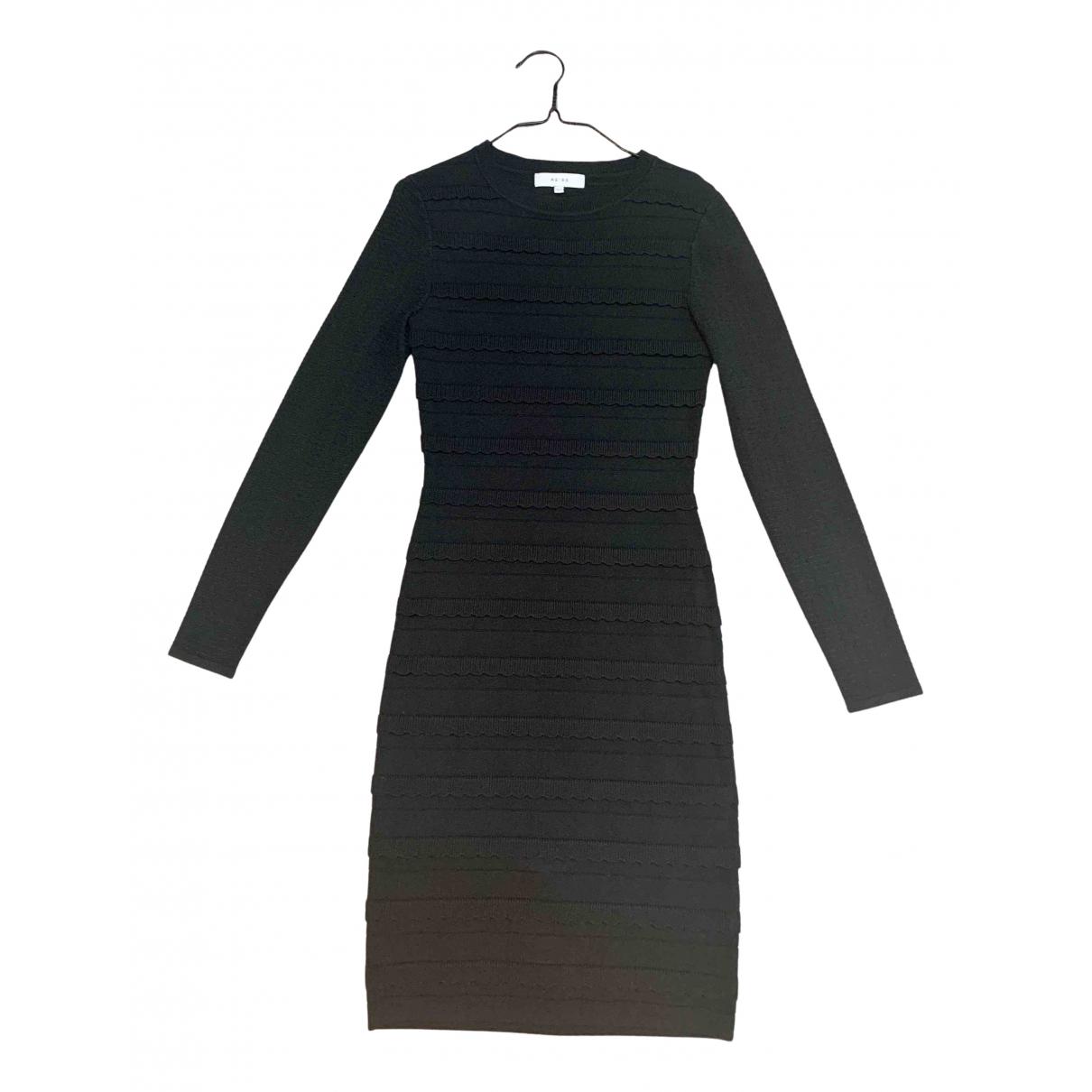 Reiss \N Kleid in  Schwarz Polyester