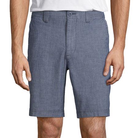 St. John's Bay Men's Comfort Stretch Chino Short, 30 , Blue