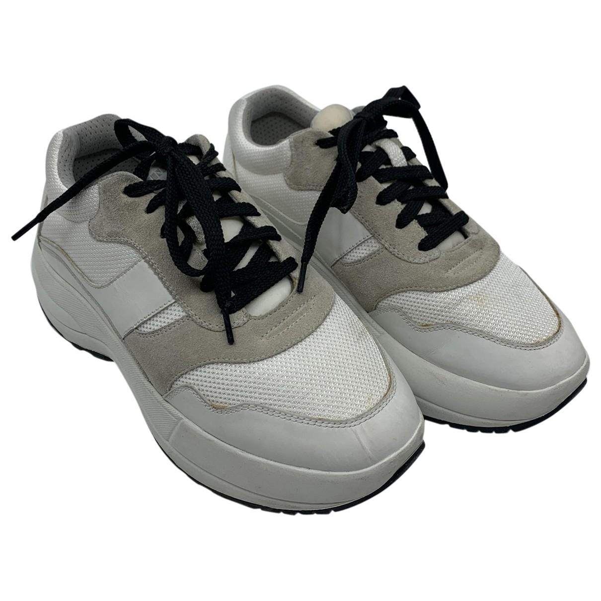 Celine - Baskets Delivery pour femme en cuir - blanc