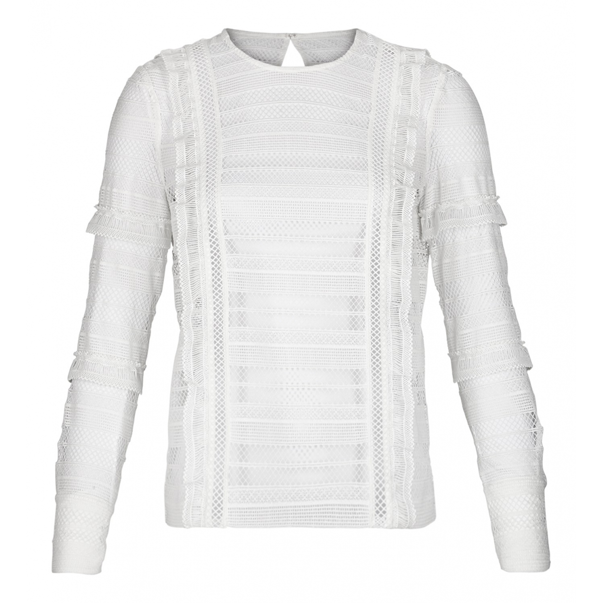 Self Portrait - Top   pour femme en coton - blanc