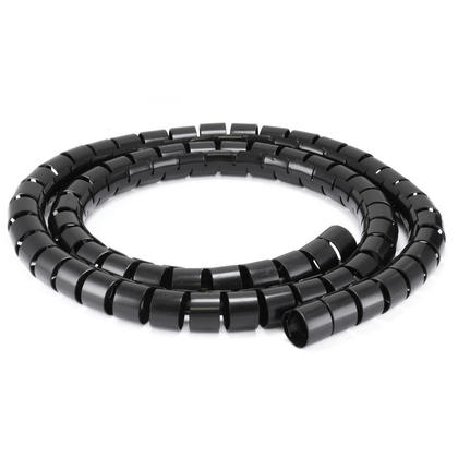 Monoprice® Spiral Wrapping Bands - 30mm x 1.5m - Black