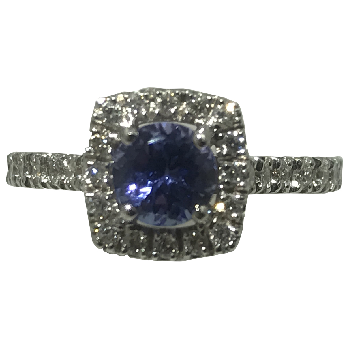 Non Signé / Unsigned \N Blue White gold ring for Women 52 EU