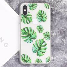 Leaf Print Clear iPhone Case