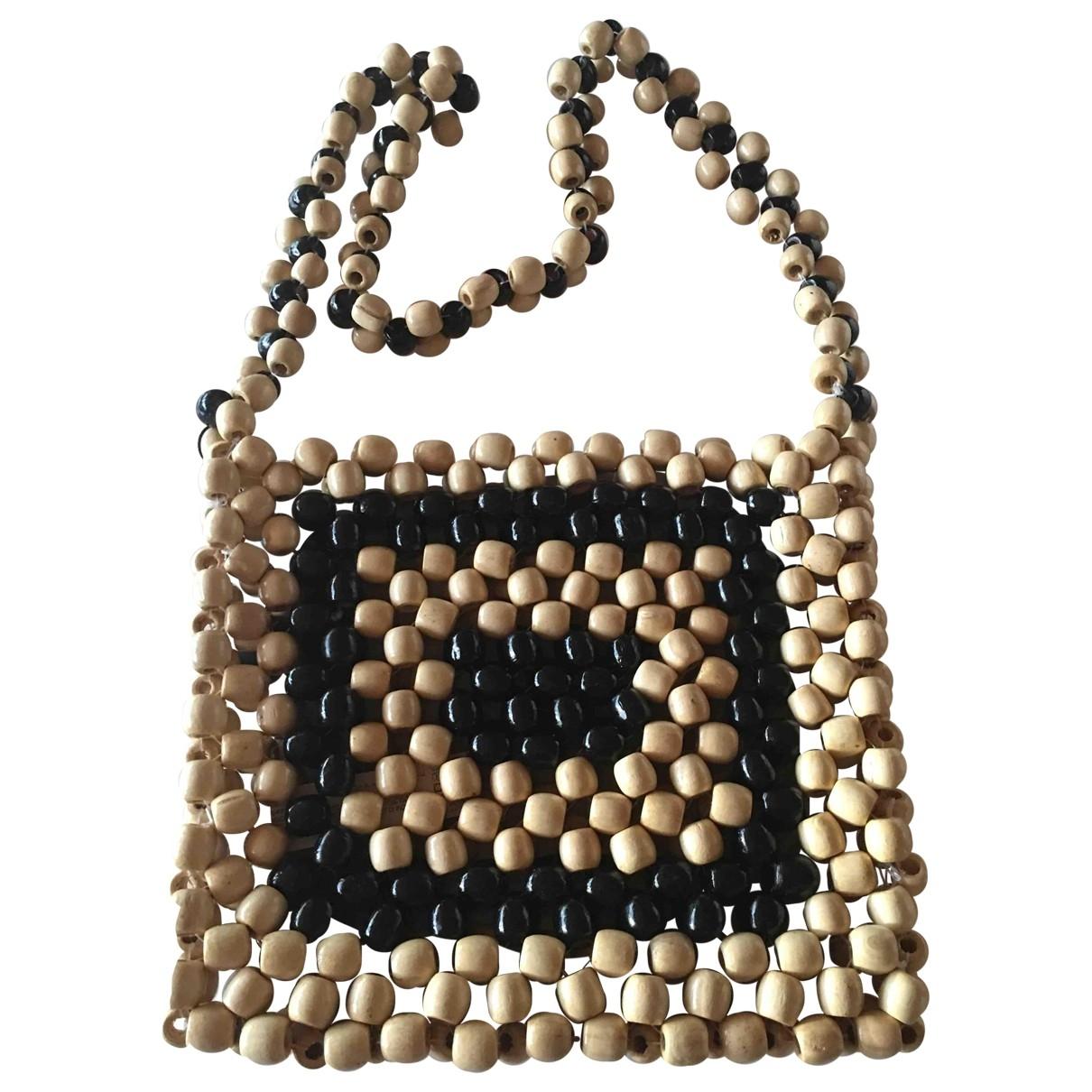 Zara \N Handtasche in  Beige Stroh