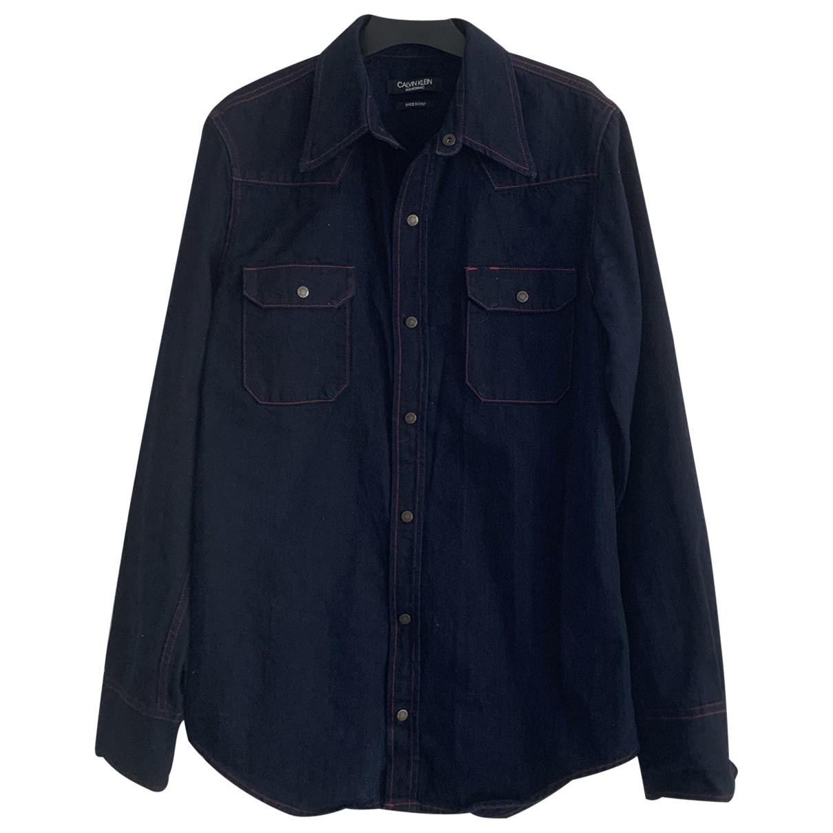 Calvin Klein 205w39nyc \N Hemden in  Marine Denim - Jeans