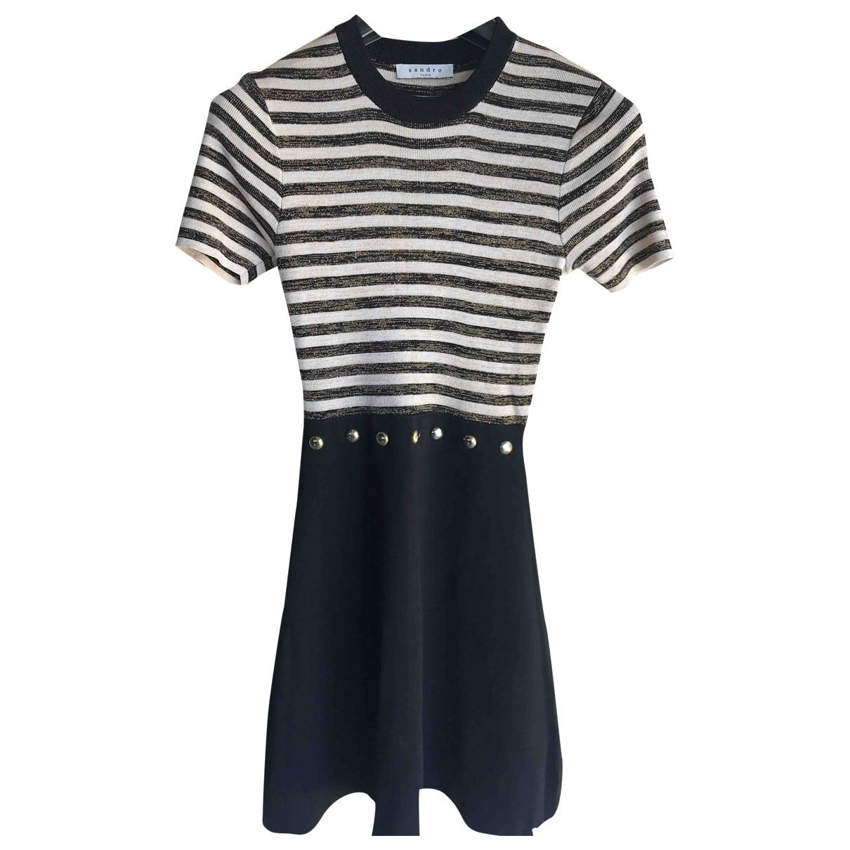 Sandro \N Black Cotton - elasthane dress for Women 1 0-5