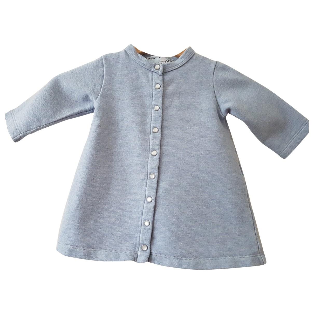 Agnes B. - Robe    pour enfant en coton - bleu