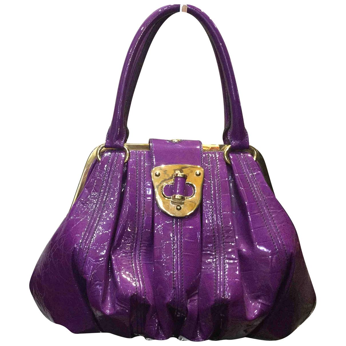 Alexander Mcqueen \N Handtasche in  Lila Lackleder