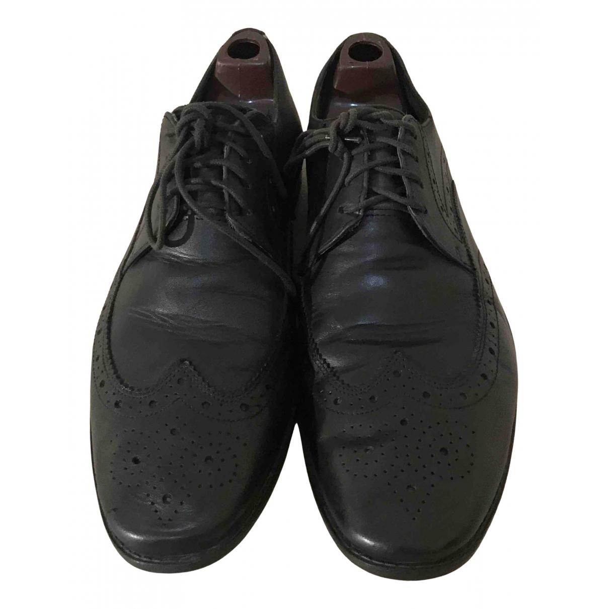 Clarks \N Sneakers in  Schwarz Leder