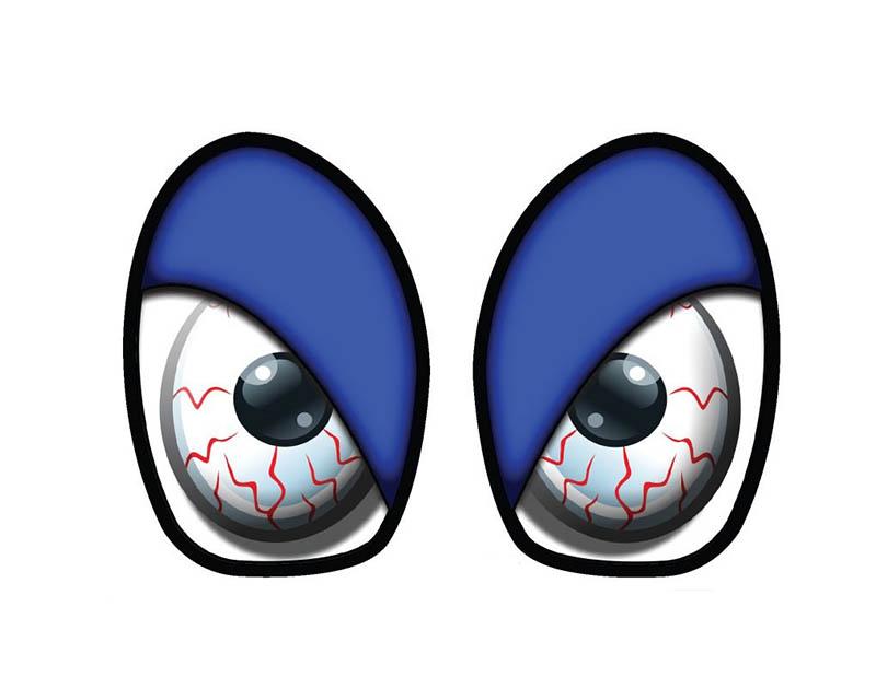 M7 Speed 92-9010 M7 R53 Eye Decal Set Bloodshot Blue Mini Cooper S R52 05-08