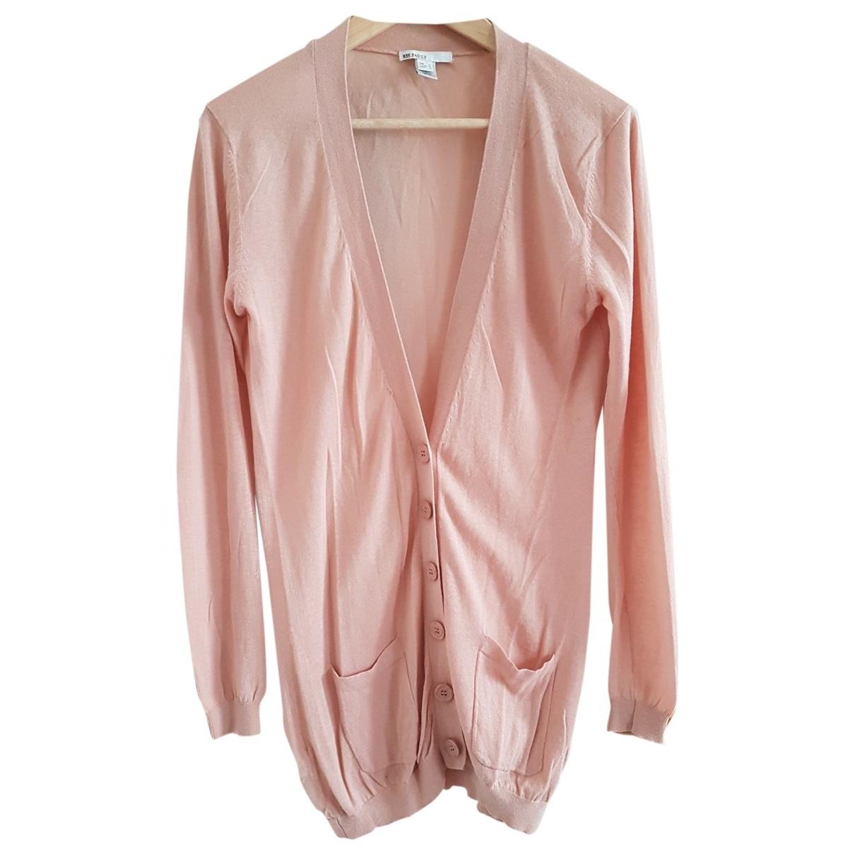 Mango - Pull   pour femme en coton - rose