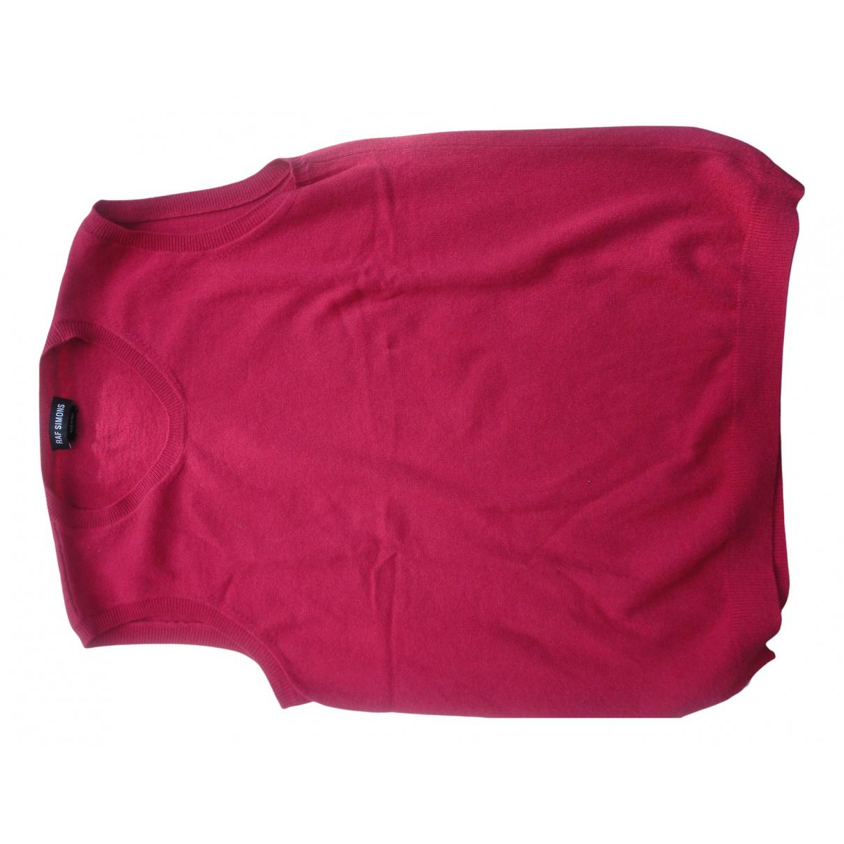 Raf Simons \N Pullover.Westen.Sweatshirts  in  Rot Kaschmir