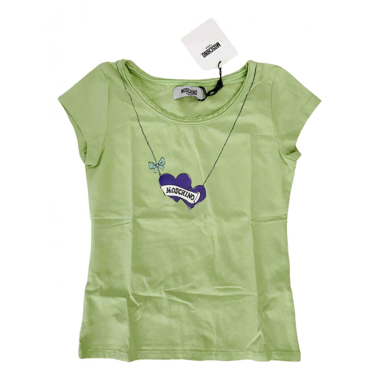 Moschino - Top   pour enfant en coton - vert