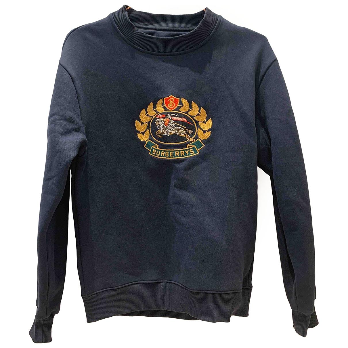 Burberry \N Navy Cotton Knitwear & Sweatshirts for Men XXS International