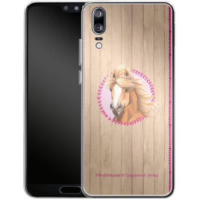 Huawei P20 Silikon Handyhuelle - Pferdefreunde Herzen von Pferdefreunde