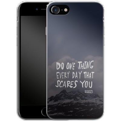 Apple iPhone 8 Silikon Handyhuelle - Scares You von Leah Flores