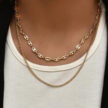 2 piezas collar minimalista