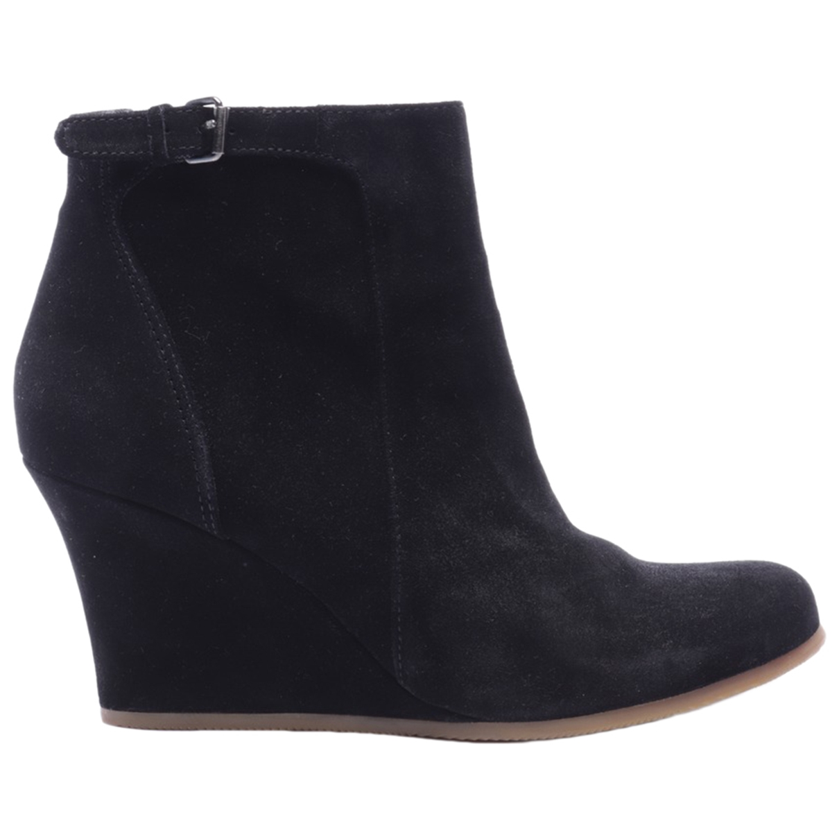 Lanvin N Black Leather Ankle boots for Women 38.5 EU