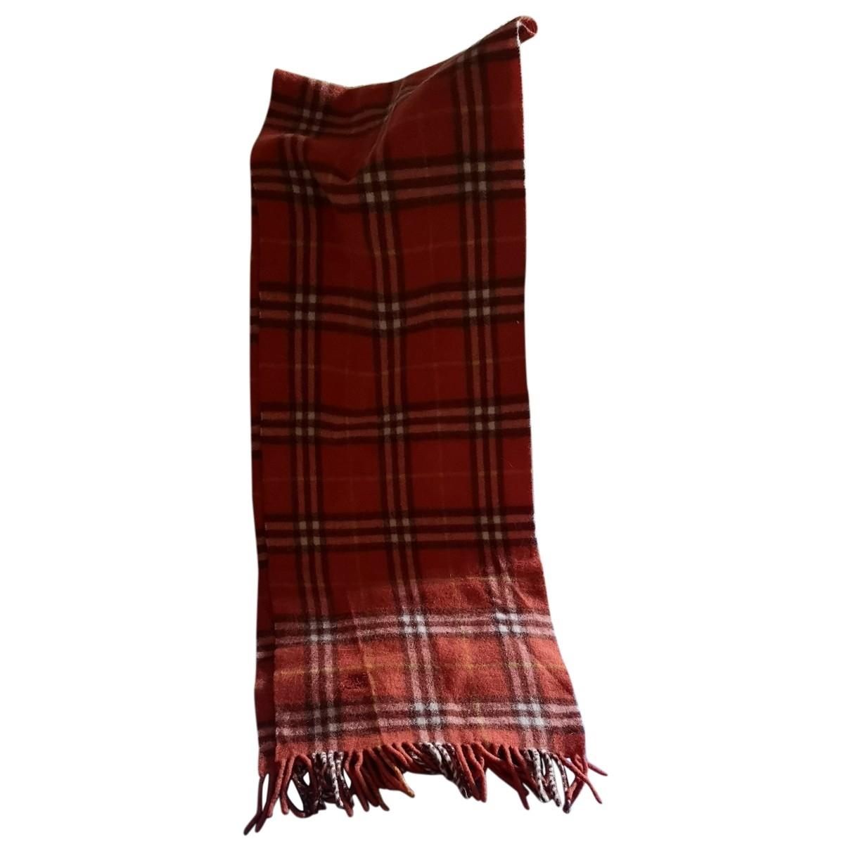Burberry - Foulard   pour femme en laine - orange