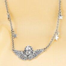 Angel & Star Pendant Necklace