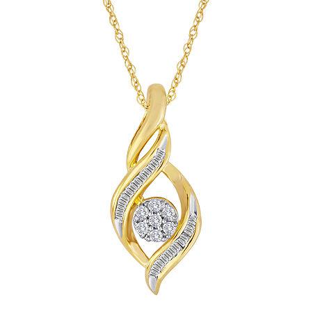 diamond blossom 1/5 CT. T.W. Diamond Cluster Pendant Necklace, One Size , No Color Family
